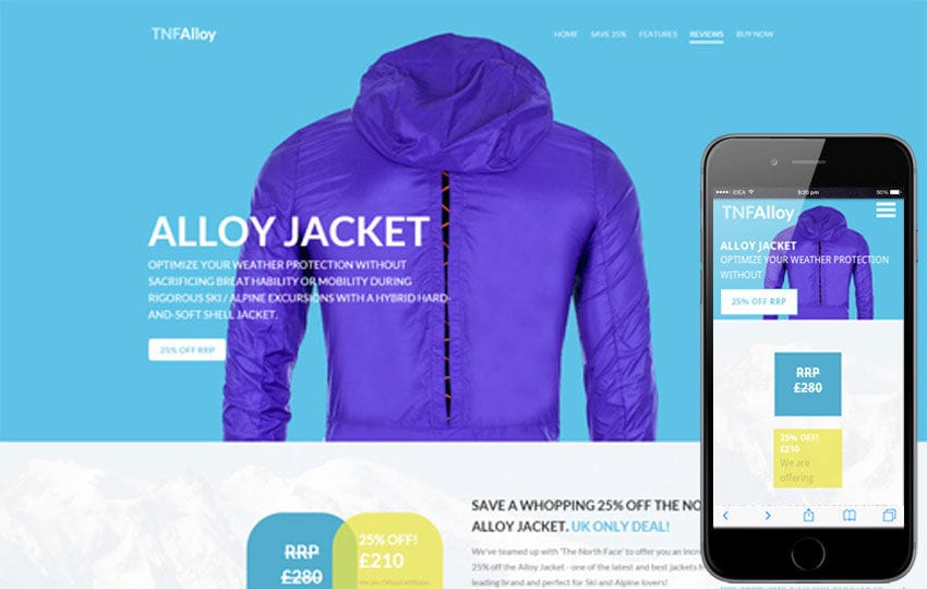 Tnf Alloy a Flat ECommerce Bootstrap Responsive Web Template
