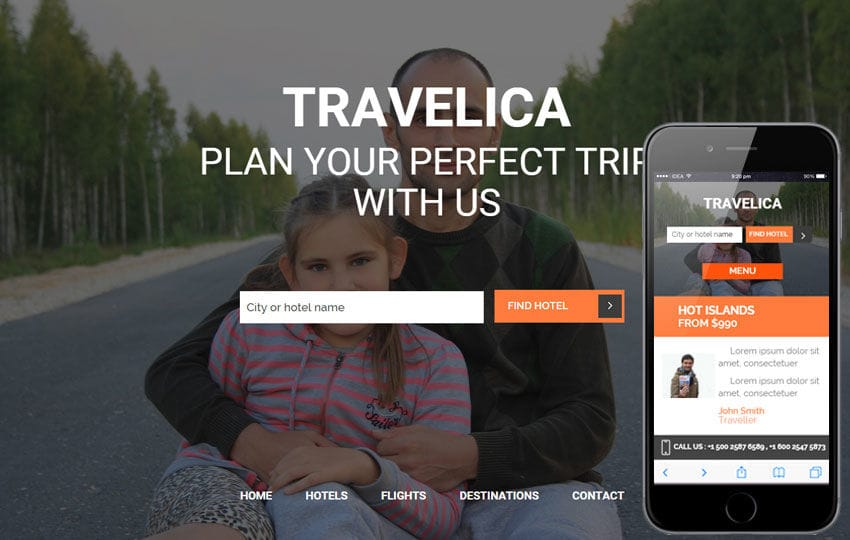 Travelica a Travel Guide Flat Bootstrap Responsive web template Mobile website template Free