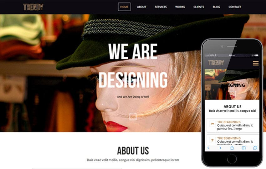 Trendy a onepage Multipurpose Flat Bootstrap Responsive web template Mobile website template Free