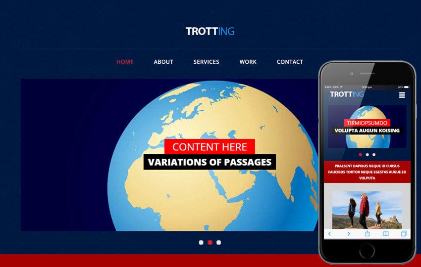 Trotting a Travel Category Flat Bootstrap Responsive Web Template
