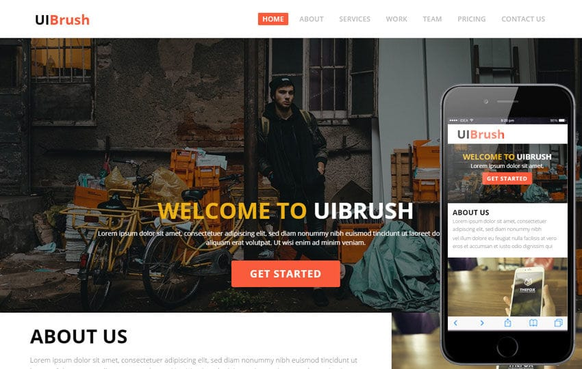 UI Brush a Corporate Multipurpose Flat Bootstrap Responsive web template