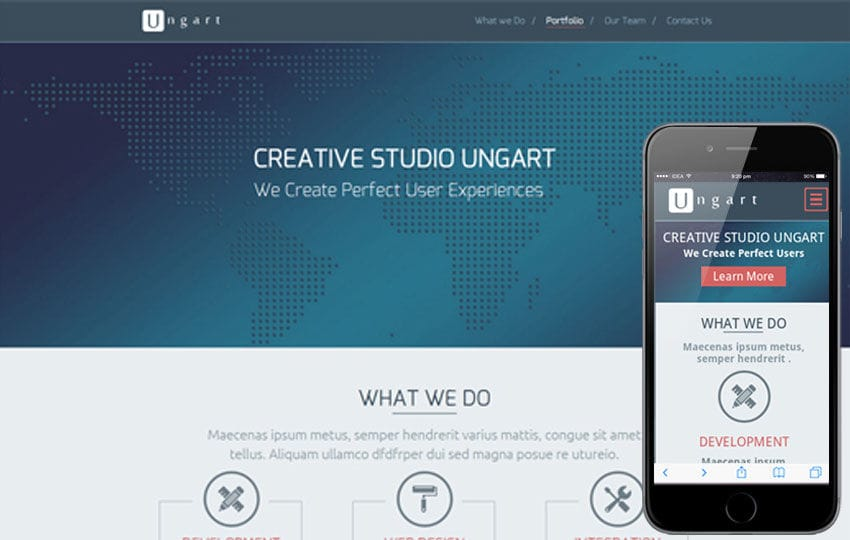 Ungart a Singlepage Multipurpose Flat Bootstrap Responsive web template