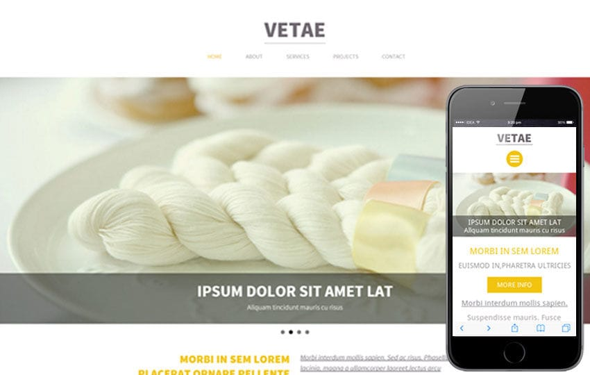 Vetae a Single Page Multipurpose Flat Bootstrap Responsive web template