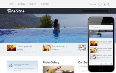 Vitalitea Beauty Care Mobile Website Template
