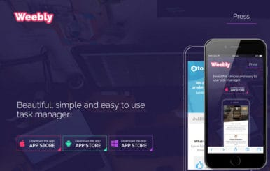 Weebly a Mobile App based Flat Bootstrap Responsive Web Template
