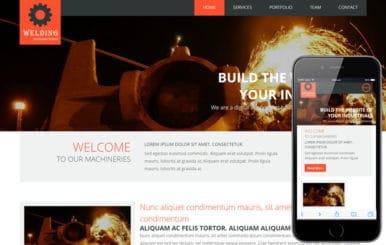 Welding a Industrial Portfolio Flat Bootstrap Responsive web template