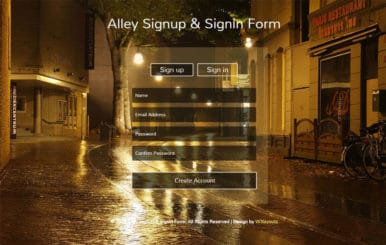 Alley Signup and Signin Form Responsive Widget Template