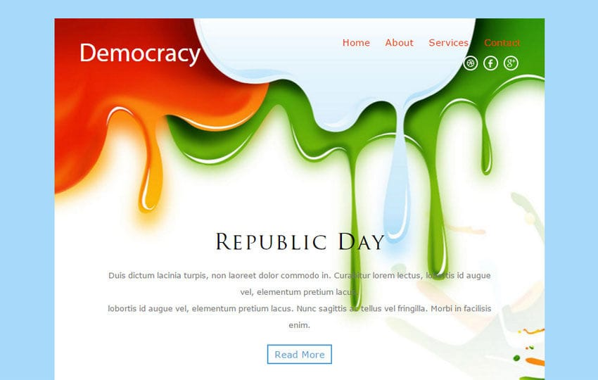 Democracy a Newsletter Responsive Web Template Mobile website template Free