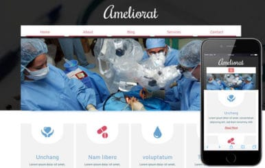 Ameliorat a Medical Category Flat Bootstrap Responsive Web Template