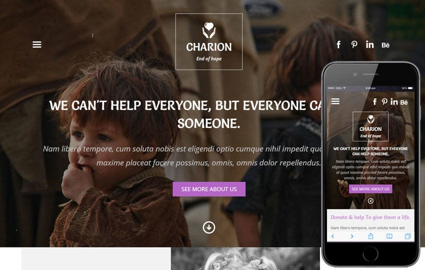 Charion a Charity Category Flat Bootstrap Responsive Web Template Mobile website template Free