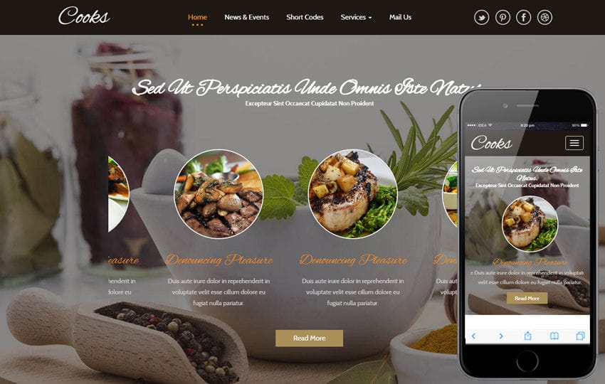 Cooks a Hotel Category Flat Bootstrap Responsive Web Template Mobile website template Free