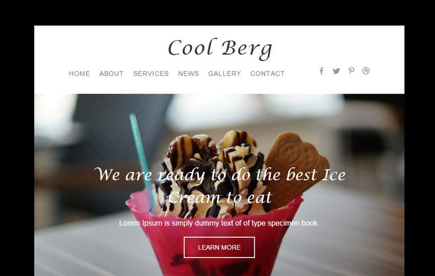 Cool Berg a Newsletter Responsive Web Template Mobile website template Free