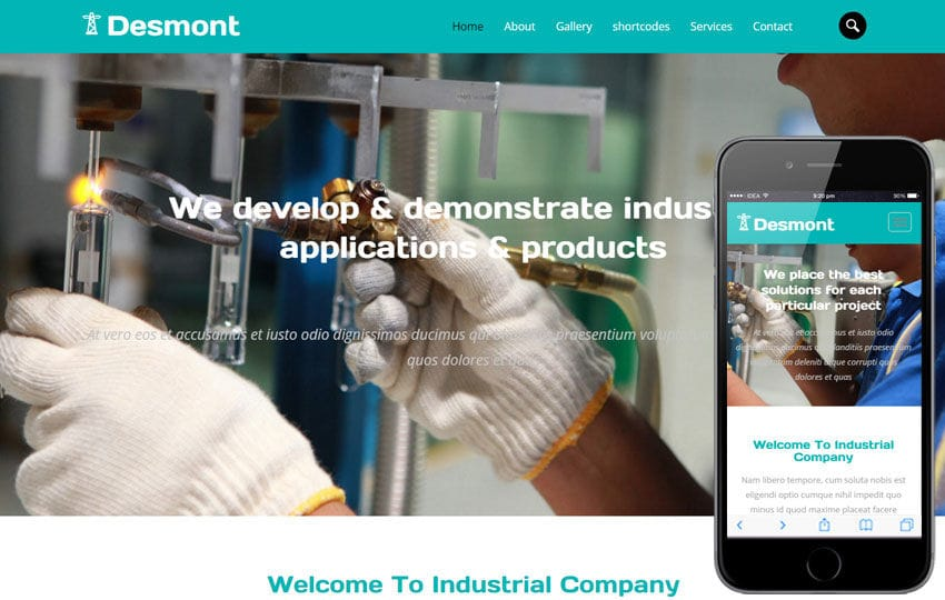 Desmont a Industrial  Flat Bootstrap Responsive Web Template