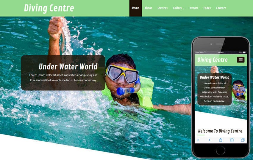 Diving Centre a Sports Category Flat Bootstrap Responsive Web Template