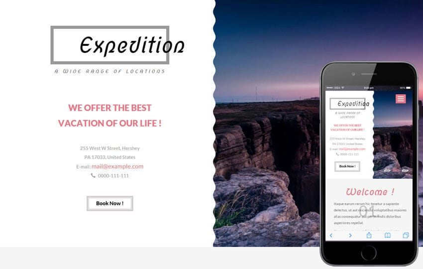 Expedition a Travel Guide Flat Bootstrap Responsive web template Mobile website template Free