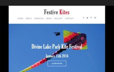 Festive Kites a Newsletter Responsive Web Template