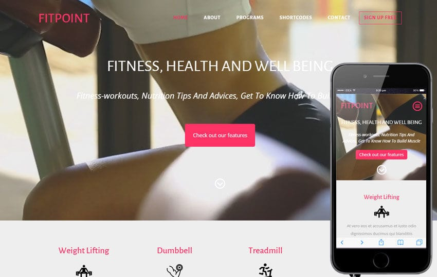 Fit Point a Sports Category Flat Bootstrap Responsive Web Template Mobile website template Free