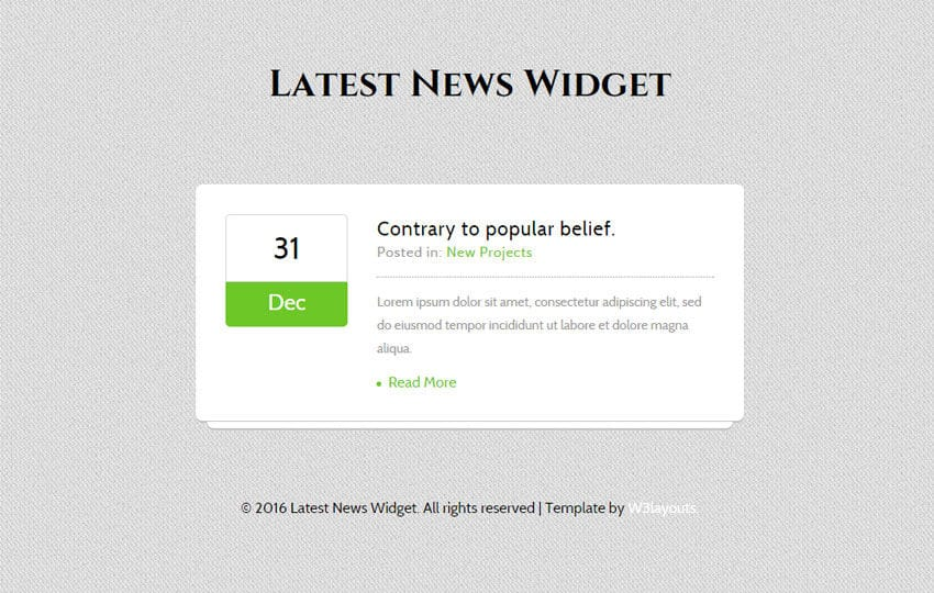 Latest News Responsive Widget Template Mobile website template Free