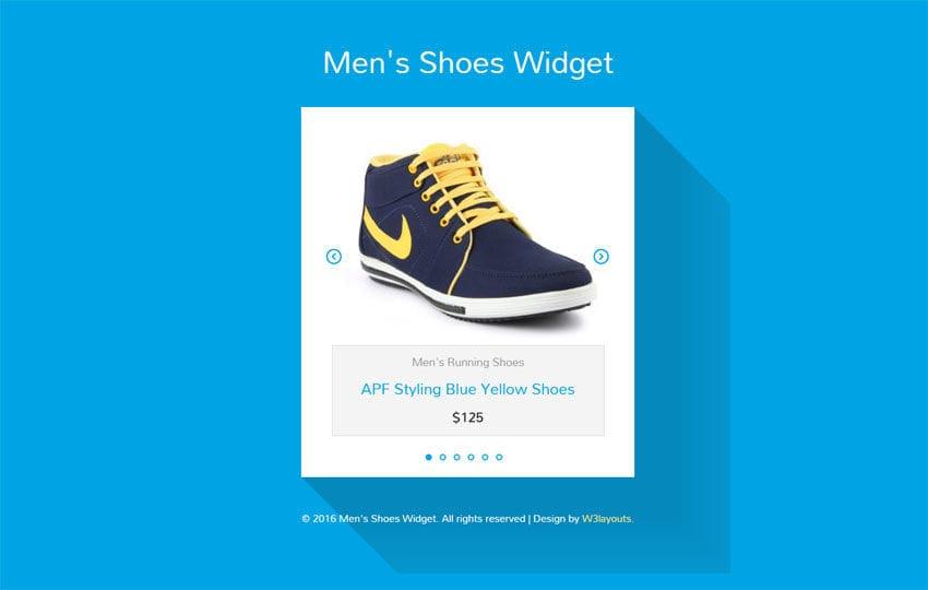 Mens Shoes Responsive Widget Template