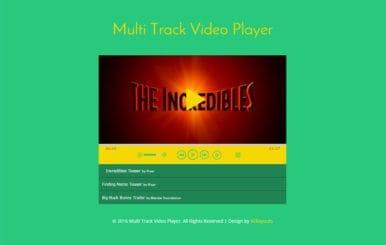 Multi Track Video Player Responsive Widget Template