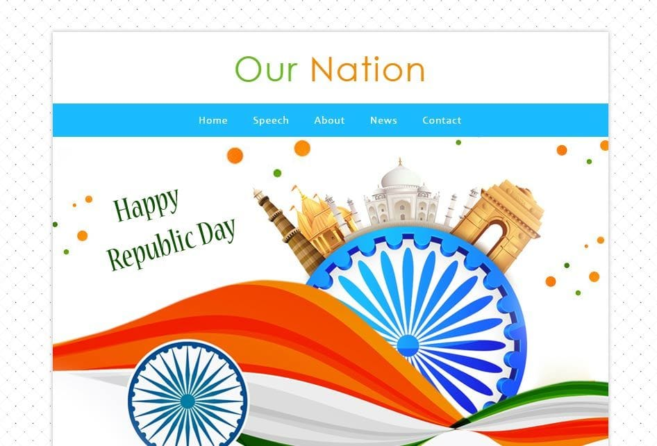 Our Nation a Newsletter Responsive Web Template Mobile website template Free