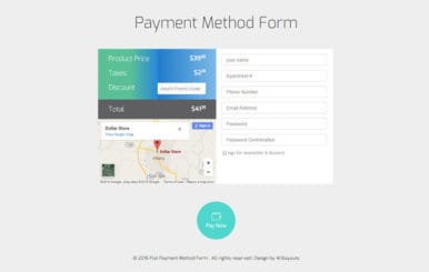 Payment Method Form Responsive Widget Template