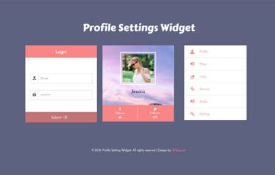Profile Settings Responsive Widget Template