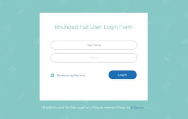 Rounded Flat User Login Form Responsive Widget Template