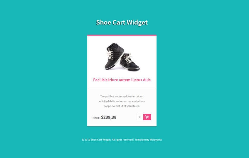 Shoe Cart Block Responsive Widget Template