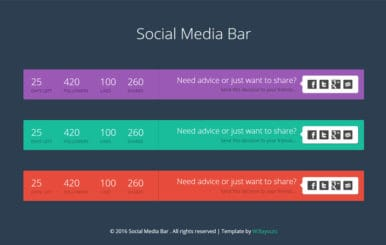 Social Media Bar Responsive Widget Template