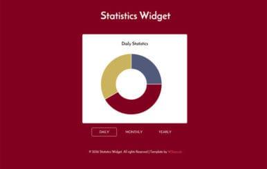 Flat Statistics Responsive Widget Template