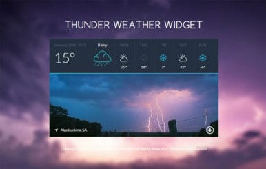 Thunder Weather Widget Responsive Template