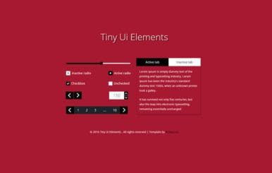 Tiny UI Elements Responsive Widget Template