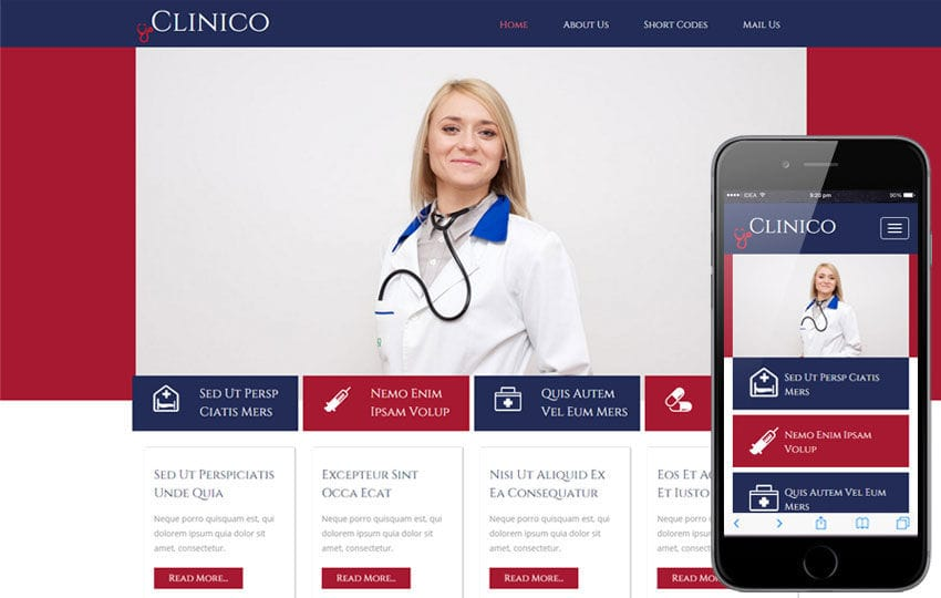 Clinico a Medical Category Flat Bootstrap Responsive Website Template