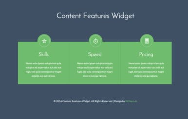 Content Features Grids Responsive Widget Template