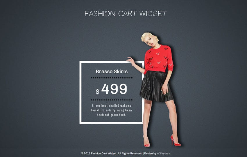 Fashion Cart Responsive Widget Template