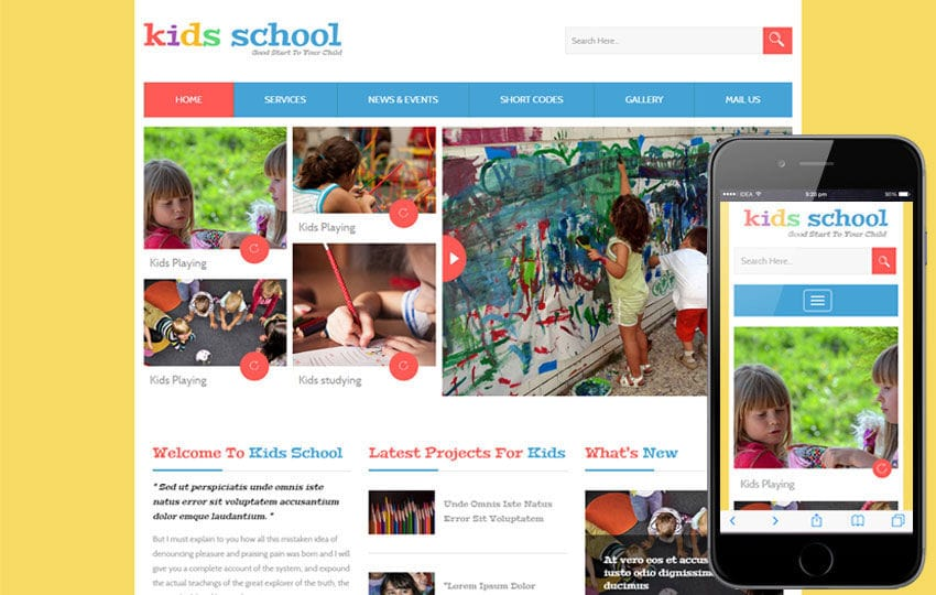 Kids School a Education Flat Bootstrap Responsive Web Template Mobile website template Free
