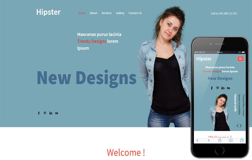 Hipster a Fashion Category Responsive Web Template