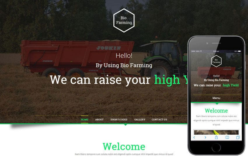 Bio Farming An Agriculture Category Flat Bootstrap Responsive web Template Mobile website template Free
