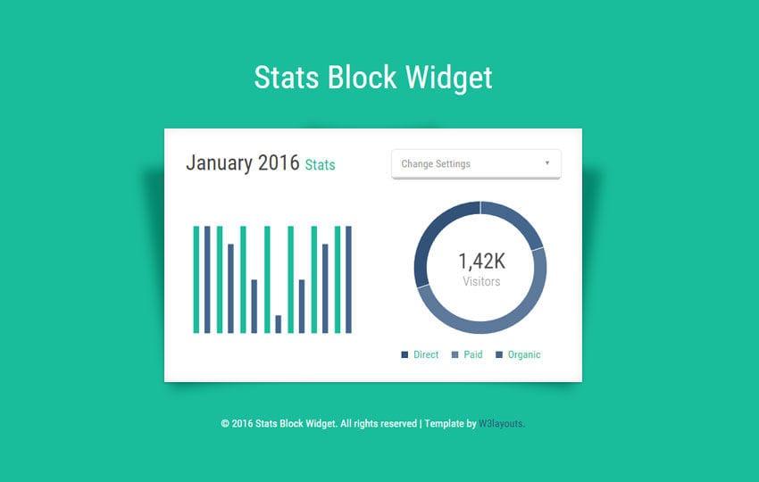 Stats Block Responsive Widget Template