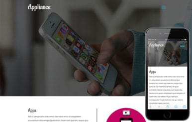 Appliance a Mobile Apps Category Flat Responsive  Web Template