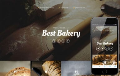 Best Bakery a Hotel Category Responsive Web Template