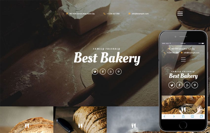 Best Bakery a Hotel Category Responsive Web Template Mobile website template Free
