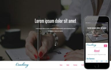 Coaching a Education Category Flat Bootstrap Responsive Web Template