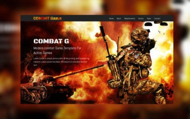 Combat Game a Games Category Responsive Web Template
