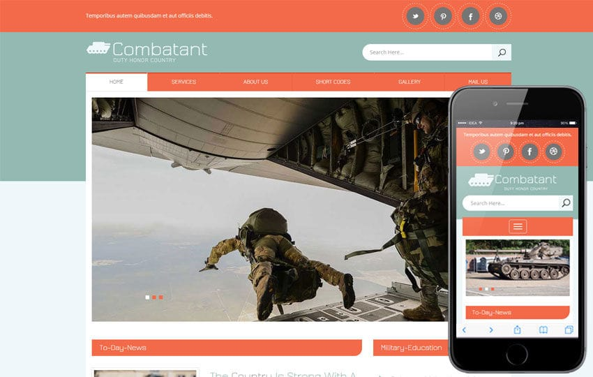 Combatant a People and Society Flat Bootstrap Responsive Template Mobile website template Free