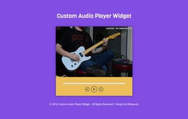Custom Audio Player Widget Flat Responsive Widget Template