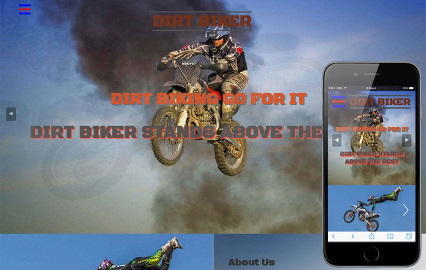 Dirt Biker Sports Category Flat Bootstrap Responsive  Web Template