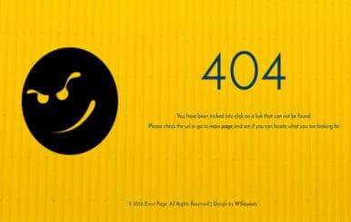 Error Page a Flat Responsive Widget Template