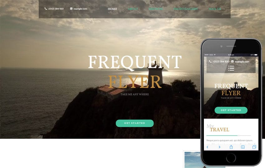 Frequent Flyer a Travel Category Flat Bootstrap Responsive Web Template Mobile website template Free